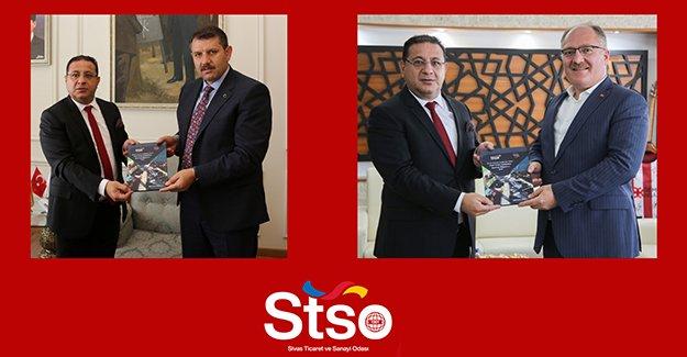 Başkanımız Eken'den, Vali Ayhan ve Başkan Bilgin'e Ziyaret
